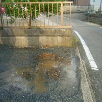 埋設管からの漏水